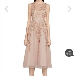 BCBGMAXAZRIA Eugene Butterfly Embroidered Dress